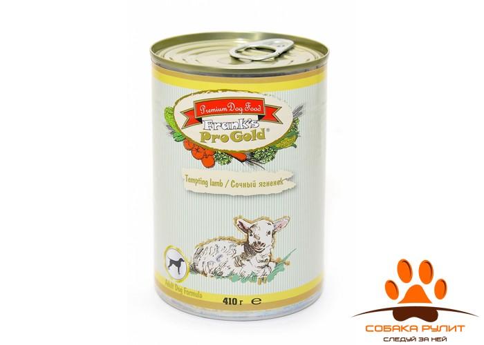 Frank's ProGold консервы для собак «Сочный ягненок», Tempting lamb Dog Recipe