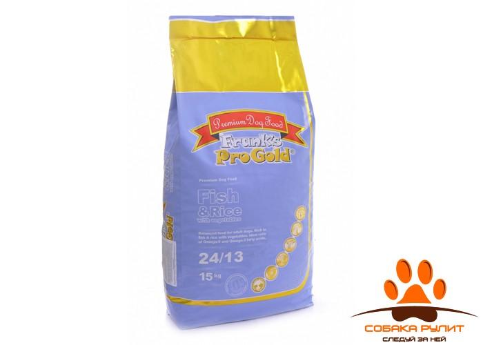 Корм Frank's ProGold для взрослых собак с лососем и сельдью, Fish and Rice 24/13
