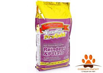 Корм Frank's ProGold для собак с чувствительным пищеварением: оленина и картофель, Reindeer/Potatoe