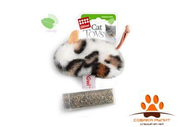 GiGwi Мышь с контейнером с кошачьей мятой
