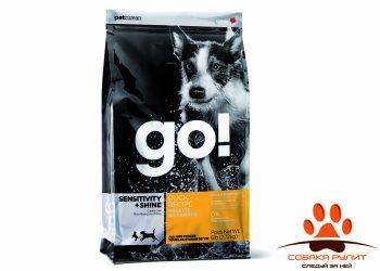Корм GO! NATURAL Holistic для щенков и собак с цельной уткой и овсянкой, Sensitivity + Shine Duck Dog Recipe