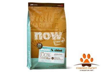 Корм NOW Natural holistic беззерновой для щенков крупных пород с индейкой, уткой и овощами