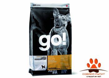 Корм GO! NATURAL Holistic беззерновой для щенков и собак с цельной уткой для чувствительного пищеварения, Sensitivity + Shine Duck Dog Recipe, Grain Free, Potato Free