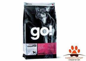 Корм GO! NATURAL Holistic беззерновой для щенков и собак с лососем для чувствительного пищеварения, Sensitivity + Shine Salmon Dog Recipe, Grain Free, Potato Free