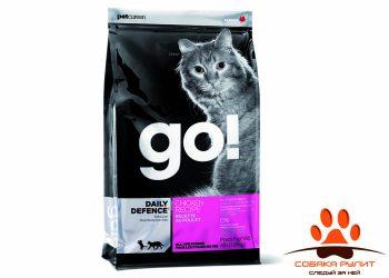 Корм GO! NATURAL Holistic для котят и кошек с цельной курицей, фруктами и овощами, DAILY DEFENCE™ Chicken Cat Recipe