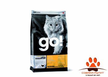 Корм GO! беззерновой для котят и кошек с чувствительным пищеварением, со свежей уткой