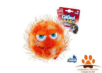 gigwi Мяч с пищалкой оранжевый
