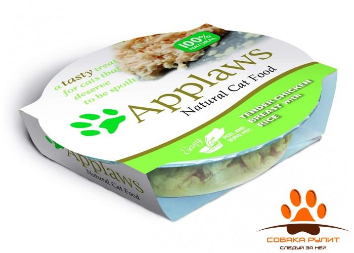 Applaws Консервы для Кошек «Нежнейшая Куриная грудка с Рисом» (Cat Tender Chicken Breast with Rice) 60г