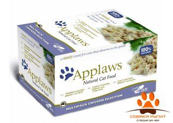 Applaws Набор для Кошек «Куриное ассорти»: 8шт.*60г (Cat Chicken Selection MP)