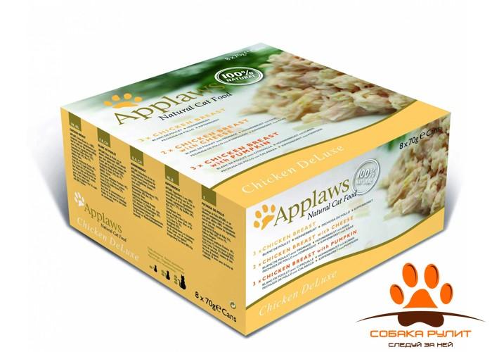 Applaws Набор консервов «Куриный» для Кошек: 12 шт.*70г (Chicken Selection)