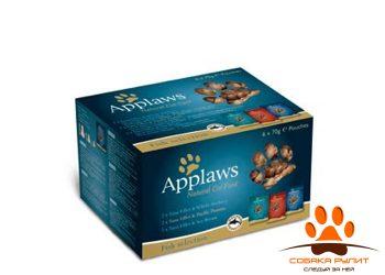 Applaws Набор «Рыбное ассорти» для кошек: 12 паучей*70г (Cat Fish Multi Pouch)
