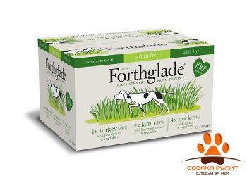 Forthglade Grain Free Natural Lifestage Multicase (№3) 12 Х 395гр (3 вкуса для собак: индейка, утка и ягненок)