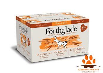 Forthglade Natural Lifestage Multicase (№1) 12 Х 395гр (3 вкуса для собак: цыпленок с рисом, индейка с рисом и ягненок с рисом)