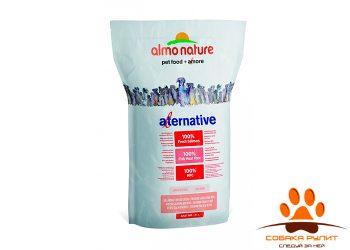 Almo Nature Alternative Корм со свежим лососем и рисом (50 % мяса) для собак средних и крупных пород