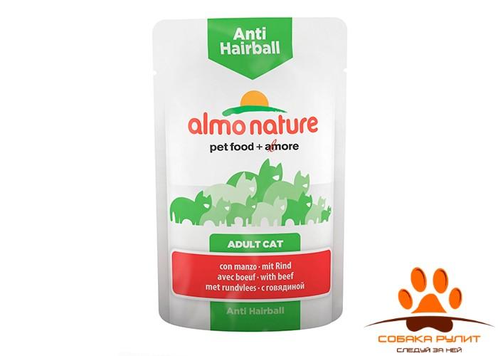 Almo Nature Functional Anti-Hairball Консервы для кошек 70г (в ассортименте)