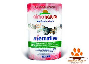 Almo Nature Alternative Паучи для кошек «Тихоокеанский тунец» 91%