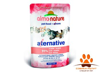 Almo Nature Alternative Паучи для кошек с лососем 91% мяса