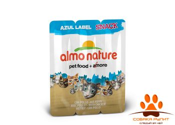 Almo Nature Лакомства — колбаски для кошек 3шт (в ассортименте)