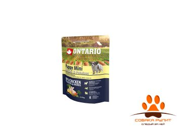 Ontario Для щенков малых пород с курицей и картофелем (Ontario Puppy Mini Chicken & Potatoes
