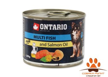 Ontario Консервы для собак малых пород: рыбное ассорти (ONTARIO Mini — Multi Fish and Salmon oil