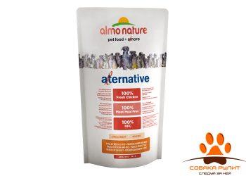 Almo Nature Alternative Корм со свежим цыпленком и рисом (50 % мяса) для собак карликовых и мелких пород