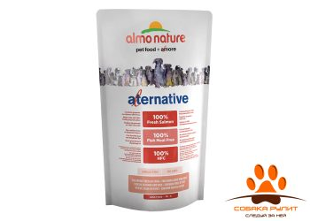 Almo Nature Alternative Корм со свежим лососем и рисом (50 % мяса) для собак карликовых и мелких пород