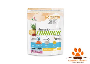 Trainer Fitness3 No Gluten Mini Puppy&Junior Salmon and Rice