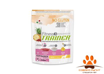 Trainer Fitness3 No Gluten Mini Puppy&Junior Duck and Rice