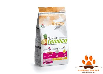 Trainer Fitness3 No Gluten Medium/Maxi Junior Duck and Rice
