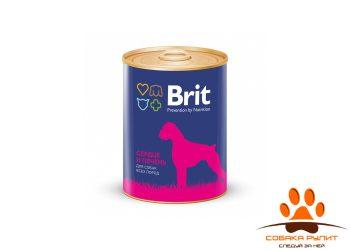 Консервы BRIT «Premium» с сердцем и печенью для взрослых собак всех пород 850г