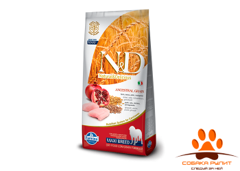 Farmina N&D Low Grain Dog Chicken & Pomegranate Adult Maxi 12 кг