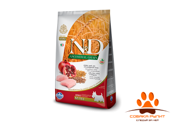 Farmina N&D Low Grain Dog Chicken & Pomegranate Adult Mini