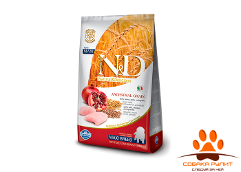 Farmina N&D Low Grain Dog Chicken & Pomegranate Puppy Maxi
