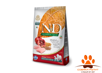 Farmina N&D Low Grain Dog Chicken & Pomegranate Senior Medium & Maxi 12 кг