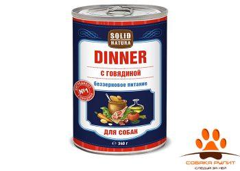 Solid Natura Dinner Говядина влажный корм для собак