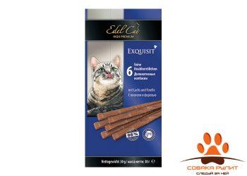 EDEL CAT Лакомства — Деликатесные колбаски/ Лосось и форель