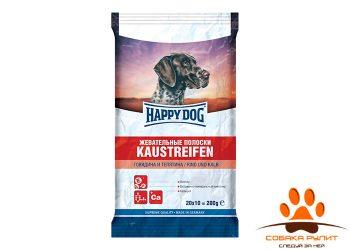 Happy Dog Лакомства Жевательные полоски с говядиной и телятиной 200гр