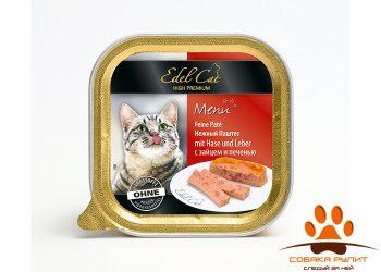 EDEL CAT Нежный паштет/ Заяц и печень 100гр