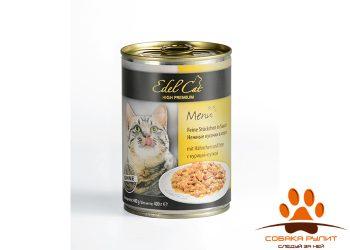 EDEL CAT Кусочки в соусе/ Курица и утка 400гр