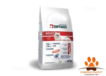 Корм Ontario для взрослых кошек с курицей