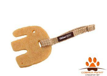 GiGwi СЛОН (льняной ремешок эко-резина 11 см)