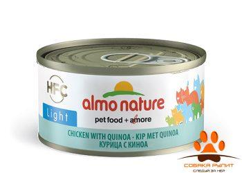 Almo Nature низкокалорийные консервы для кошек с курицей и киноа 70г