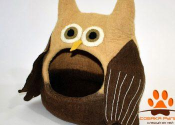 Домик DharmaDog KarmaCat «Сова»(коричневый)