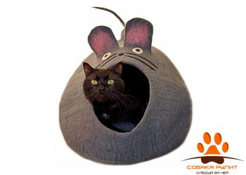 Домик DharmaDog KarmaCat «Мышка» (серый)
