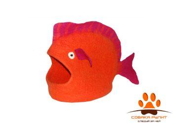 Домик DharmaDog KarmaCat «Рыба» (оранжевый)