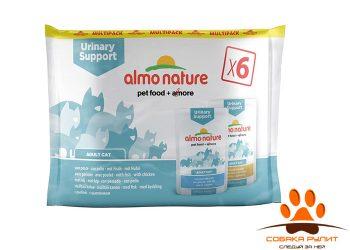 Almo Nature набор паучей для профилактики мочекаменной болезни, с рыбой и курицей, 6шт
