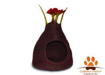 Домик DharmaDog KarmaCat «Букет» (коричнево-красный)