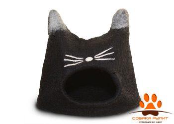 Домик DharmaDog KarmaCat «Кот» (черный)