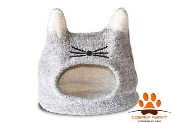 Домик DharmaDog KarmaCat «Кот» (серый)