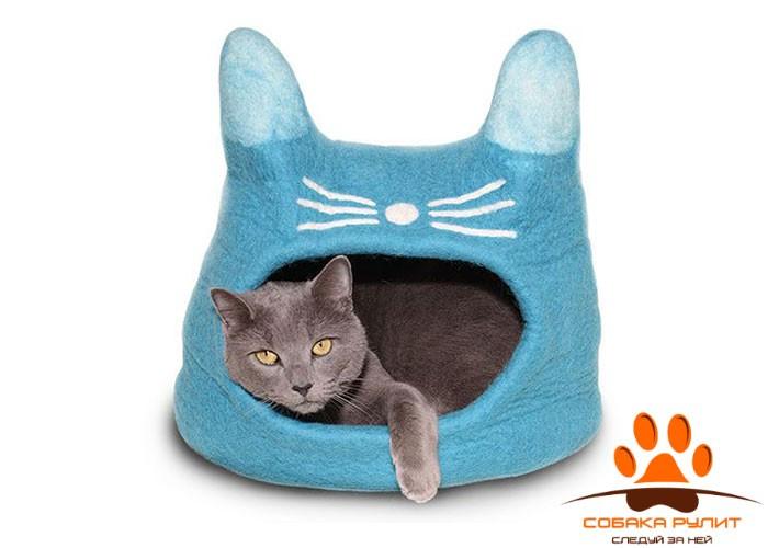 Домик DharmaDog KarmaCat «Кот» (бирюзовый)
